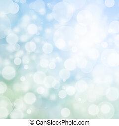 blauwe , abstract, effect, bokeh, achtergrond, digitale