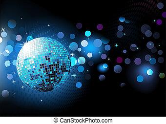 blauwe , abstract, feestje, achtergrond
