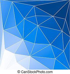blauwe , abstract, geometrisch, achtergrond