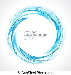 blauwe , abstract, helder, achtergrond, kolken, cirkel