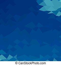 blauwe , abstract, laag, achtergrond, veelhoek