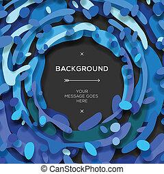 blauwe , abstract, moderne, achtergrond, geometrisch