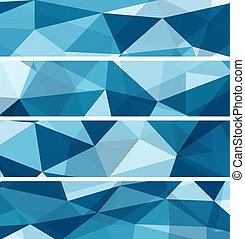 blauwe , abstract, set, achtergronden