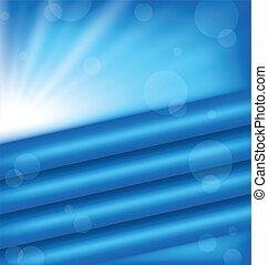 blauwe , abstract, stralen, achtergrond