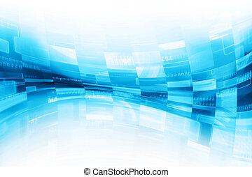 blauwe , abstract, technologie, achtergrond