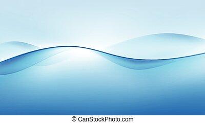 blauwe , abstract, vector, achtergrond, golf