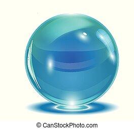 blauwe , abstract, vector, bol