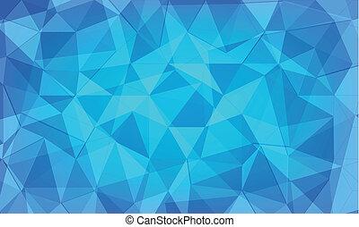 blauwe , abstract, vector, veelhoek, achtergrond