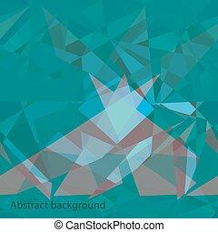 blauwe , abstract, veelhoek, achtergrond