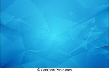 blauwe , abstract, veelhoek, achtergrond, geometrisch
