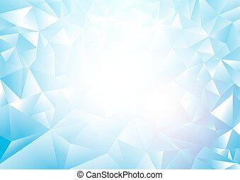 blauwe , abstract, zacht, driehoeken, achtergrond
