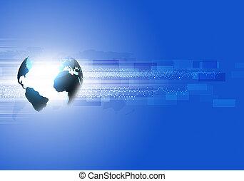 blauwe , abstract, zakelijk, achtergrond