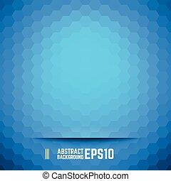 blauwe , abstract, zeshoek, achtergrond