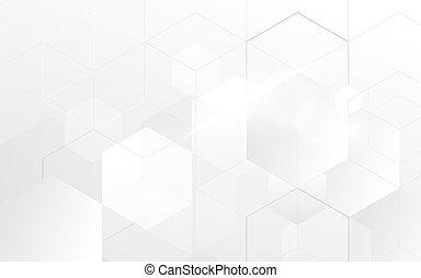 blauwe , abstract, zeshoek, geometrisch, achtergrond