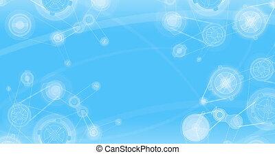 blauwe , achtergrond., 4k, mechanisch
