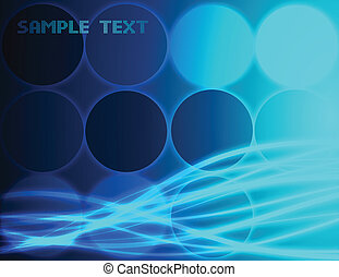 blauwe , achtergrond., abstract, vector