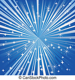blauwe achtergrond, feestelijk