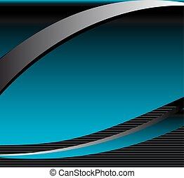 blauwe achtergrond, golf, abstract