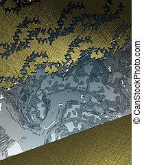 blauwe achtergrond, goud, patterns., ontwerp, mal