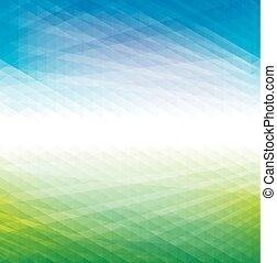 blauwe achtergrond, groene samenvatting