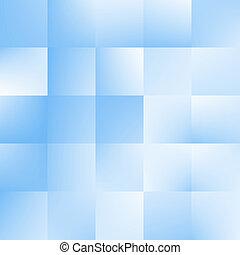 blauwe achtergrond, met, pleinen