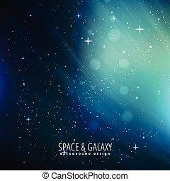 blauwe achtergrond, ruimte