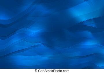 blauwe achtergrond, vloeiend