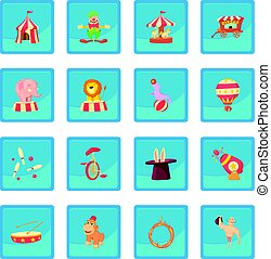 blauwe , app, circus, pictogram