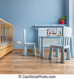 blauwe , baby, kamer