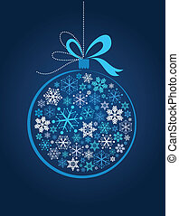 blauwe bal, kerstmis