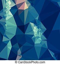 blauwe bal, veelhoek, abstract, laag, achtergrond