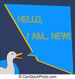 blauwe , balloon., beginnen, ongelijk, new., tekst, het tonen, eend, telefoon voorteken, of, gesprek, vorm, gebruikt, toespraak, het spreken, leeg, conceptueel, hallo, foto, groet