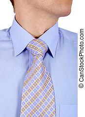 blauwe band, close-up, hemd