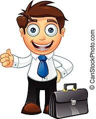 blauwe band, karakter, zakenmens