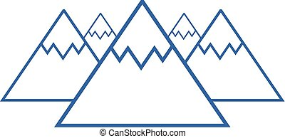 blauwe bergen, symbool