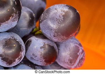 blauwe , bes, druiven, wijntje, rood, schotel