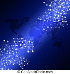 blauwe , biz, netwerk, achtergrond