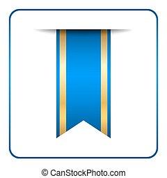 blauwe , bladwijzer, spandoek