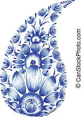 blauwe bloem, samenstelling
