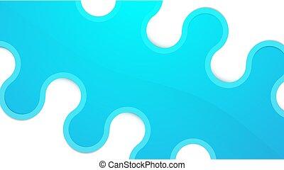blauwe bocht, abstract, lijnen, illustratie, achtergrond., vector, geometrisch