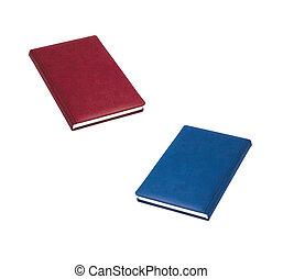 blauwe , boekjes , rood