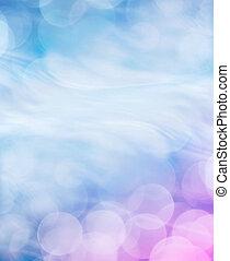 blauwe , bokeh, achtergrond
