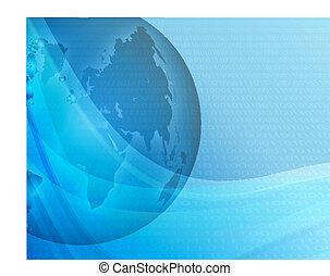 blauwe bol, achtergrond