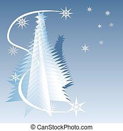 blauwe , boompje, kerstmis