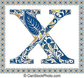 blauwe , brief x