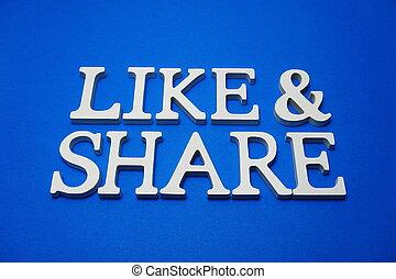 blauwe , brieven, zoals, alfabet, aandeel, achtergrond