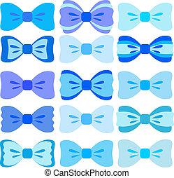 blauwe , buigingen, verzameling