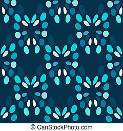 blauwe , cirkels, abstract, seamless, model