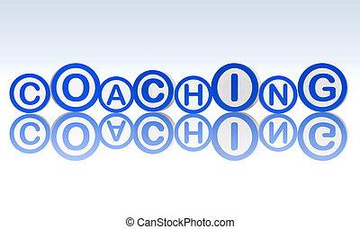 blauwe , cirkels, coachend