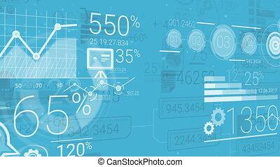 blauwe , communie, abstract, achtergrond, infographics,...